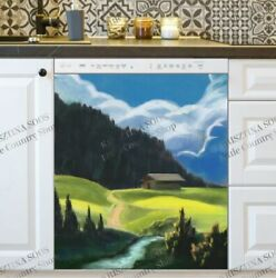 Kitchen Dishwasher Magnet - Old Farm In The Valley