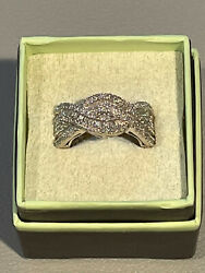 Ross Simons Ss Paqutte Diamond Braid Ring Sz 6 1ct Total Weight