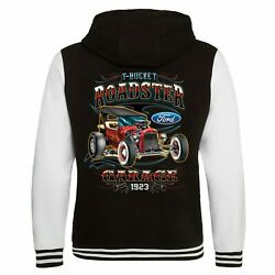 Ford Hot Rod Licensed Varsity Hoodie Jacket Clothing Classic T Bucket Roadster