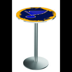 Holland Bar Stool Co. L214s3628stlblu 36 Stainless Steel St Louis Blues Pub