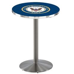 Holland Bar Stool Co. L214s4228navy 42 Stainless Steel U.s. Navy Pub Table
