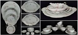 Antique Theodore Haviland Limoges France 77 Pc Dinner Set With Serving Pieces