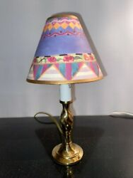 Precious Inspired Gold Lamp With Parchment Shade. Mackenzie Childs Napkin