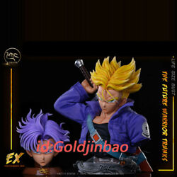 Dragon Ball Trunks 1/1 Scale Bust Painted Statue In Stock Mrc Studio Lifesize