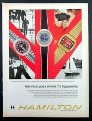1972 Hamilton Day And039n Date Watch Company Magazine Ad