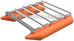 6and039x8and039 Bolt-together Mini Pontoon Boat Kit Floats And Frame Plastic Floats Al Frame