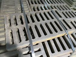 Misc. Brand Cast Iron Drainage Grate Size 24x14x2 Used