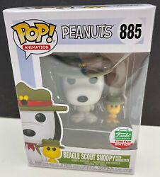 Funko Pop Peanuts: Beagle Scout Snoopy amp; Woodstock #885 Funko Shop Exclusive