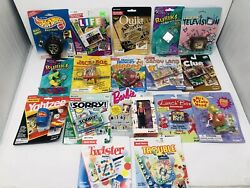 Large Lot Of 17 Vintage Mini Games And Keychains 1990's Life, Rubiks, Barbie Htf