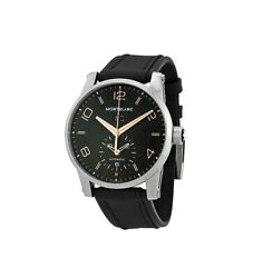 Timewalker 43 Mm Black Dial Dual Time Automatic Watch 110465 New Box