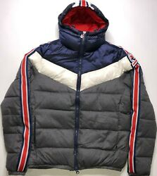 Marco Bomber With Hood Grey/navy/red Men's Jacket 4431595u-1462 Size L