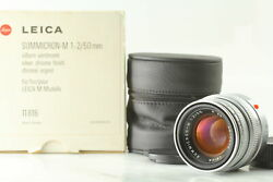 【top Top Mint In Box】 Leica Summicron M E39 50mm F2 Germany Mf Lens From Japan