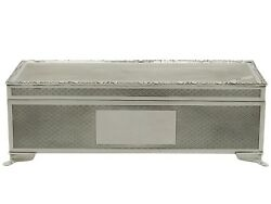 Post-1940 Sterling Silver Cigarette/jewellery Box By Harman Brothers