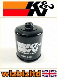 Kawasaki Zg1400 Concours Abs 2012-2014 [kandn Black Replacement Oil Filter] Kn-303