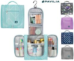 Travel Cosmetic Makeup Bag Toiletry Hanging Organizer Storage Case Pouch Women $18.99