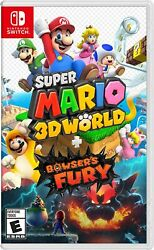 Super Mario 3D World Bowser's Fury Nintendo Switch On Hand Ready to Ship