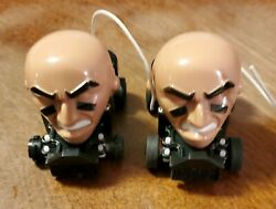Nfl Electronic Mighty Helmet Racers Remote Cars Track Slot Lot Of 2