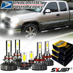 For Chevy Silverado 1500 2500 Hd 2007-2015 6000k Led Headlight + Fog Bulb Kit