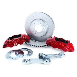 For Ford F-150 10-14 Off Road C-hook Slotted 1-piece Heavy Duty Front Brake Kit