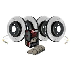 For Dodge Dart 13-15 Stoptech Sport Slotted 1-piece Front And Rear Brake Kit