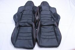 Custom Made Honda S2000 Ap2 Real Leather Seat Covers Black Red Stitching