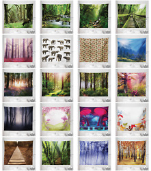 Ambesonne Forest Microfiber Tapestry Wall Hanging Decor in 5 Sizes