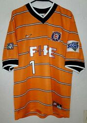 Mls Chicago Fire Nike 1998 Jorge And039brodyand039 Campos Goalie Soccer Jersey Very Rare