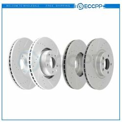Front And Rear Discs Brake Rotors For Pontiac Gto 2005 - 2006 Drilled Slotted