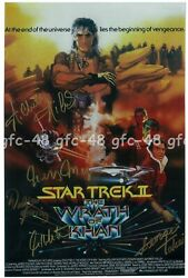 Star Trek Ii The Wrath Of Khan Cast Signed Autograph Print A3 Poster Rolled