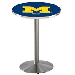 Holland Bar Stool Co. L214s4228michun 42 Stainless Steel Michigan Pub Table