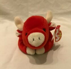 Rare Ty Beanie Baby. No Comma After Oakbrook. Style 4002. Pe Pellets. 1995.