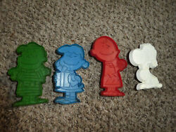 Vtg 4 United Feature Syndicate Inc Cookie Cutters Snoopy Lucy Charlie Brown Lin