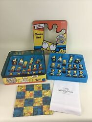 The Simpsons Chess Set Fold Up Playing Board Limited Edition Game Vintage 2000