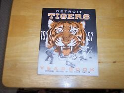 Rare Vintage 1957 Detroit Tigers Yearbook--extremely Hi Grade