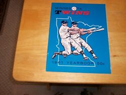 Vintage 1961 Minnesota Twins Yearbook 1st Season Ever--extremely Hi Grade