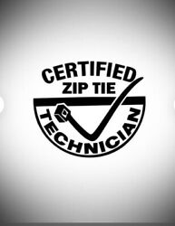 Bandw Funny Certified Cable Tie Technician Tool Decal Toolbox Car Truck Shop