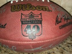Nfl Pro Football Hall Of Fame 40th Anniversary Autograph Football