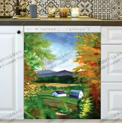 Kitchen Dishwasher Magnet - Old Farmhouses In The Valley