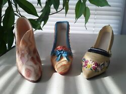 Decorative Collectible Miniature Shoes - Lot Of 3 Various Brands