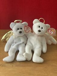 Ty Beanie Babies Original - Rare Brown Noses - Halo And Halo Ii Bundle