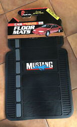 Vintage Nos Plasticolor Black Ford Mustang Rubber And Carpet Floor Mats 80and039s