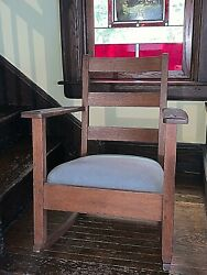 Antique Charles Limbert Arts And Crafts Child Rocking Chair Stickley/llyod Wright
