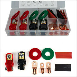 2 Pairs Car Positive And Negative Battery Cable Terminal Clamps Connectors