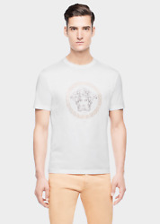 Versace Crystal Stoned Model Men T Shirt - White Or Black Color - All Sizes