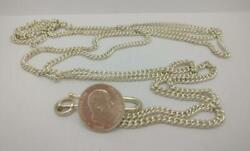 Preowned Vintage Alfonso Xii Coin Chain Belt Jewellery Sterling Silver J115