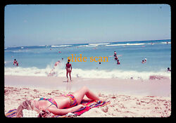 1968 Peeping Tom Voyeur  - See My Other Slides Of Pretty Girls On The Beach