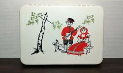 Vintage Plastic Casket Box For Yarns Cultures And Ethnicities Soviet Ussr A