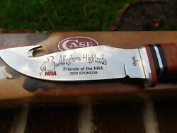 Case Xx Fixed Blade Gut Hook Hunter Knife Brown Leather 90517 Friends Of Nra 2