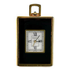 And Co Pendant Travel Clock Vintage And Rare Swiss Made