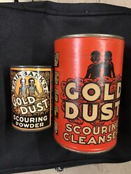 2- Nos 1920 Tin Fairbank's Sample Gold Dust Scouring Powder Mint Unopened Can